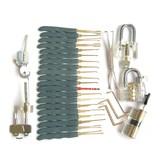 【套装】透明锁五件套+镀钛工具包套餐组合